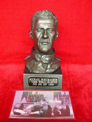 Michael Schumacher Collectors Figurine Bust Formula 1 Motor Racing 1000 Made
