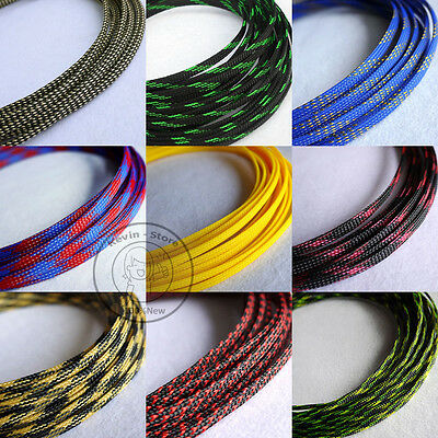 4mm New Tight Braided PET Expandable Sleeving Cable Wire Sheath (26 Color)