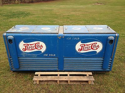 Very Rare Large Vintage Pepsi Cooler 7' Long General Electric