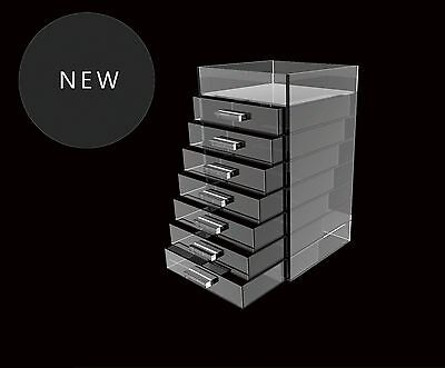 GLAMOURCUBE Acrylic Makeup Organiser 3 SIZES/HEIGHTS storage SUPERIOR QUALITY