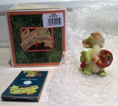 Pocket Dragon The Artist Boxed & Signed By Real 4/02 Annual Club Piece Rare