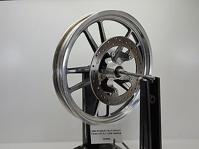 """2006 Harley FXDL Dyna Low Rider Front Wheel Rim 19x2.5 Rotor 1"""" Bea 06 HD098"""