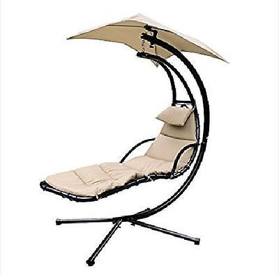 Chaise Lounger Hanging Chair Arc Stand Air Porch Swing Hammock Chair Canopy umbr