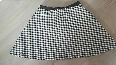 Black and White Gingham Skater Skirt Age 8-9 Years
