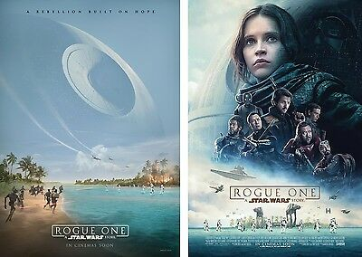 Set of 2 Rogue One: A Star Wars Story 2016 Orig 27x40 DS Intl Movie Poster A & B