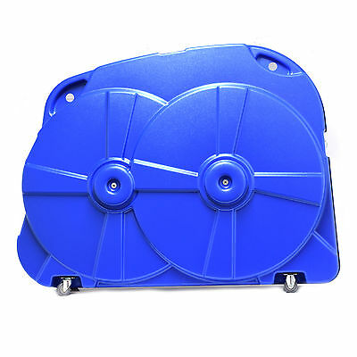 Blue Ex Display Bike Box Hard Case For Cycle Airport Travel Luggage