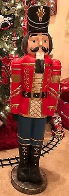 "NIB Beautiful Deluxe 38"" Christmas Nutcracker Toy Soldier Statue (1) NICE!!"