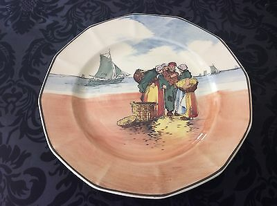 Royal Doulton Old Sailing Scene Hexagonal Decorative Plate