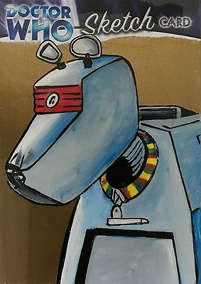 Strictly Ink Doctor Dr Who Trilogy Sketch Card By Kevin Graham Of K9 (2006)
