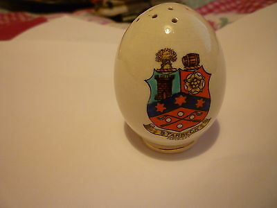 Swan China Eff Shaped Pepper Pot - Crest of STARBECK