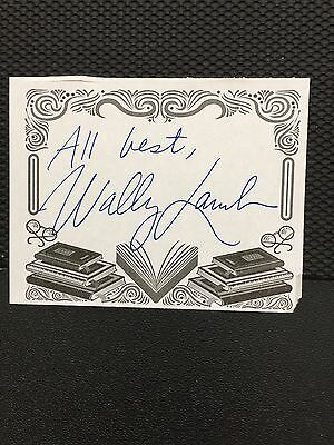 Wally Lamb, Author Signed Bookplate