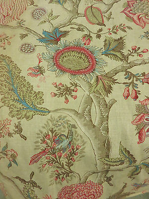 SUPERB PAIR 1940's FRENCH LINEN CURTAINS DRAPES TWO PELMETS RIDEAUX LIN ANCIENS