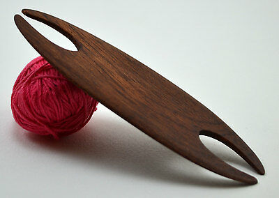 Handcrafted Weaving Shuttle For Inkle Loom Tablet Or Card Weaving - Mahogany