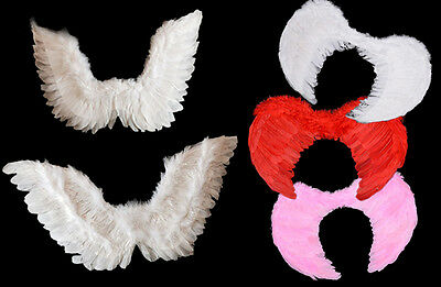 Feather Angel Wings Christmas Kids + Adults Fancy Dress Costume Hen Night Party