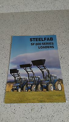 Steelfab SF800 Loaders fitted to Ford 4110 4610 7610 tractor