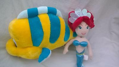 Disney Characters Little Mermaid and Flounder Soft Toys 25cm/30cm  gDD