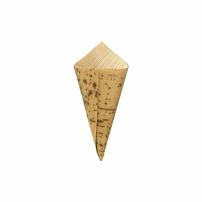 """100 pack Bamboo Leaf Sushi Cone - 3.15"""" inches long BambooMN"""