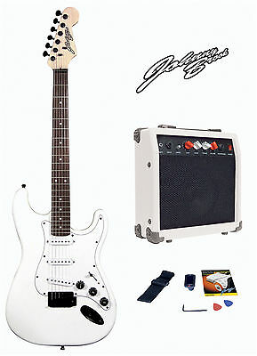 Johnny Brook Guitar Kit with 20W Amplifier - White