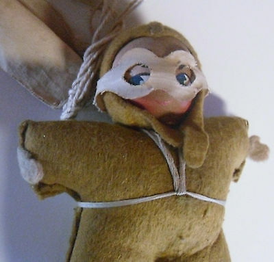 WWII 1940's  Pat The Paratrooper Toy Doll Figure with Parachute.
