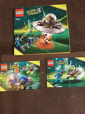 Lego Alien Conquest Instructions Only Sets 7052 7049 And 7050