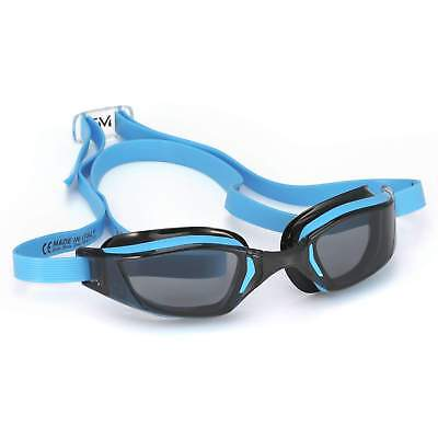 Michael Phelps Xceed Competition Racing Goggles: Blue/Black with Smoke Lens