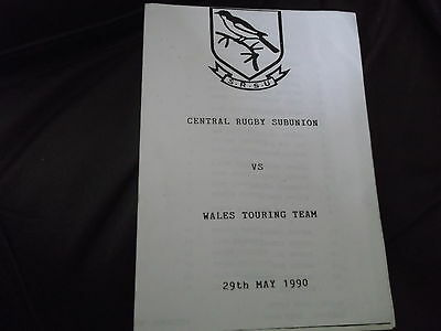 Rare Tour Of Namibia Central Rugby Subunion V Wales 29Th May 1990 Won 43-6