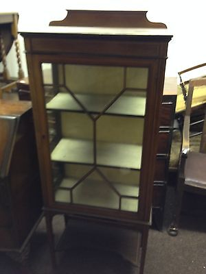 "Antique Edwardian Cabinet. Inlaid. Dainty. Old. Quality. Shabby Chic 30""wx44""h"