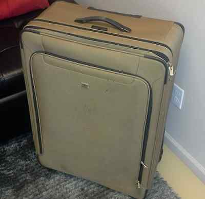 """Victorinox Softside Luggage 32"""" Brown Expandable Lightweight Suitcase"""
