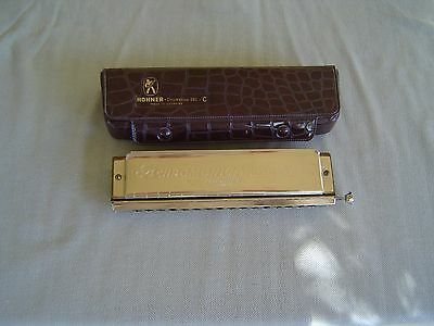 """""""64 Chromonica"""" Professional Model 280/64 """"c"""" By M. Hohner With Brown Vinyl Case"""