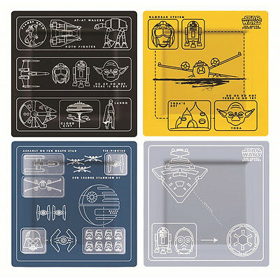 Star Wars Official Melamine Blueprint Plate Set