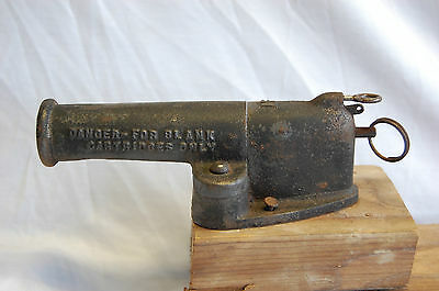 Antique Military Cast Iron Signal Cannon-France-Original Paint-Navy NF or MF