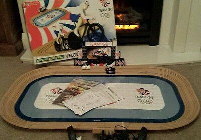 scalextric velodrome cycling set team GB Olympics 100% complete tested VGC