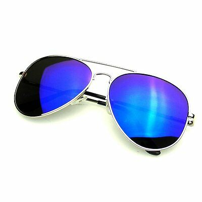 Premium Full Mirrored Aviator Sunglasses Flash Mirror Lens Sunglasses