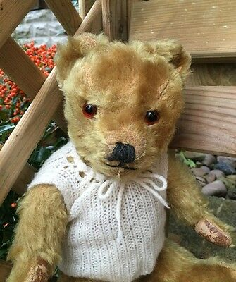 """1950s Antique British Farnell Old Vintage Teddy Bear """"Treacle"""""""