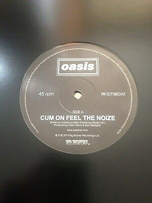 """Oasis Cum on feel the Noize Champagne Supernova promo 12"""" vinyl record"""