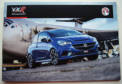Vauxhall . VXR Range . 2016 Models Edition 1. Sales Brochure