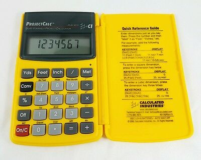 Calculated Industries Do-It-Yourself Handheld Pocket ProjectCalc Model 8515