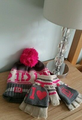 girls cute hat and gloves 1d one direction set claires accessories