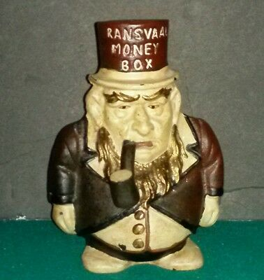 Transvaal Money Box Cast Iron Paul Kruger Wiggling Pipe Gazelie Bank