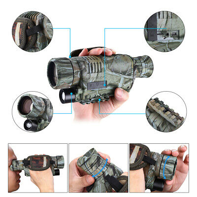 "E01 1.44"" Monocular Zoom Night Vision Scope Video Photo 5x40 Infrared IR Digital"