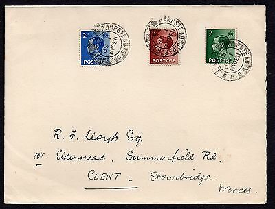 KEDVIII FDC scarce 1 Sep 1936 sg 457.459.460 used Hampstead first day cover 1936