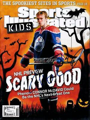 Connor McDavid Autographed Sports Illustrated Kids Magazine Edmonton Oilers NHL