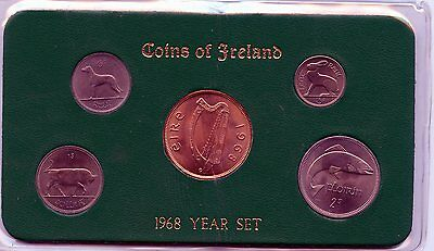 Ireland Uncirculated Set Of Coins 1968