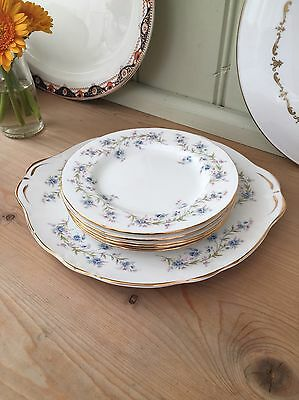 Pretty Vintage Duchess Tranquillity Bone China Tea Plates & Cake Plate