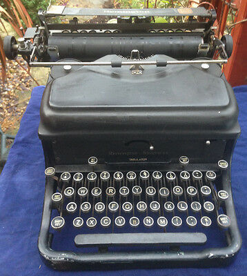 Vintage Remington Noiseless Portable Typewriter with Case 1930s | NEEDS SERVICE