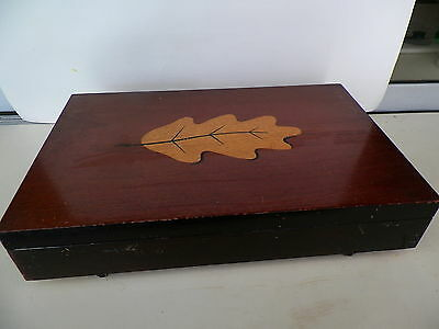 Vntage Holmes & Edward's Wood Flatware Storage Case With Inlay*no Reserve