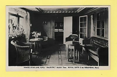 Shipping White Star Line RMS Majestic Royal Suite Real Photo Postcard