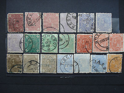 20 Used Stamps Romania 1890 SG 271 to 397