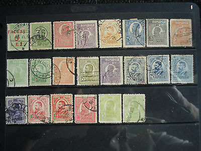 22 Used Stamps Romania