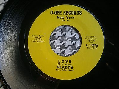 "GLADYS -  Love / A Precious Moment  - O-GEE  45s""     Northern Soul"